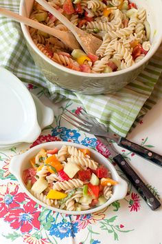 Wacky Noodle Pasta Salad isn't your average pasta salad recipe. It has all the fresh ingredients of a normal pasta salad, but uses egg noodles for the pasta! The texture of the noodles makes this easy side dish recipe one that everyone will love.