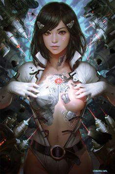 cyborg girl v2.0 by KilartDev.deviantart.com on @deviantART