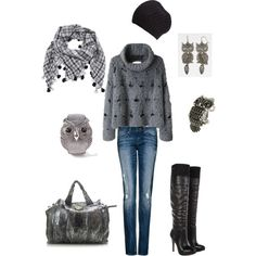 shades of gray, created by rachelann34 on Polyvore