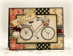 "another great card ""Riding Pretty set"" & October Afternoon paper"