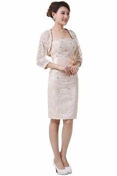 4df539dbe84 DLFashion 3 4 Sleeve Sheath Lace Mother Of The Bride Dress at Amazon  Women s Clothing