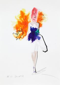 - David Downton Stephen Jones for Dior (Hong Kong Tatler) 2011 -