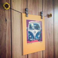 Adirondack Volkswagen Bus Matted and Signed Print by RetroSorrento, $20.00