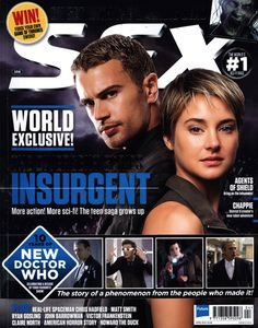 Cover SFX Magazine January The divergent series insurgent. The new Doctor Who. Sfx Magazine, Movie Magazine, Magazine Covers, Insurgent Movie, Divergent Series, Game Of Thrones Sword, Forge Game, New Doctor Who, Howard The Duck