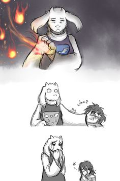 So apparently, during the Toriel fight, if you run into her hand she immediately stops her attack.