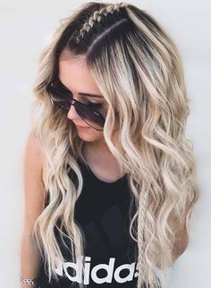 Pretty Braids for Long Hair to Sport in Year 2018 Wanna wear some kind of unique braids to make you absolutely different on your big day? No need to worry at all, just visit this post and find our most amazing ideas of braids for long hair looks in year Side Braid Hairstyles, Down Hairstyles, Pretty Hairstyles, Mohawk Braid, Hair Updo, Popular Hairstyles, Picture Day Hairstyles, Boho Hairstyles For Long Hair, Middle Part Hairstyles