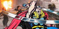Classic Marvel Superhero Comic Art Thrown in Modern Movies