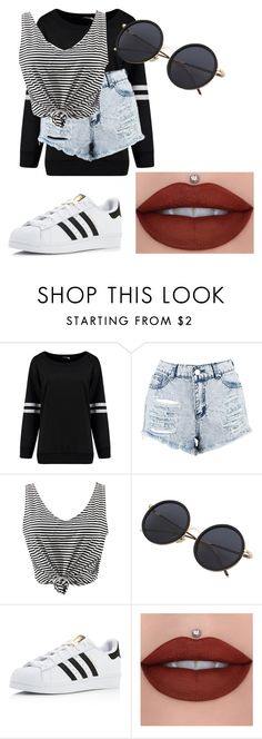 """""""Untitled #182"""" by lilicabsilveira-1 on Polyvore featuring Boohoo, WithChic and adidas"""