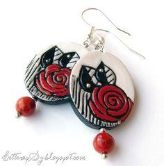 """Fingerprints, Red Rose"" - unique piece made on request"
