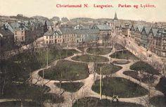 Parken i Kristiansund i gamle dager