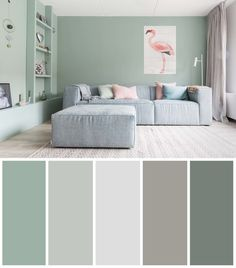 5 cool lounge coloration concepts If you want to bring a new atmosphere into the living room, one way you can do it is to change the paint color of the living room. The technique of applying the color of the living room paint th Room Wall Colors, Bedroom Paint Colors, Paint Colors For Living Room, Living Room Color Schemes, Living Room Designs, Living Room Decor, Bedroom Decor, Apartment Color Schemes, Living Room Lighting