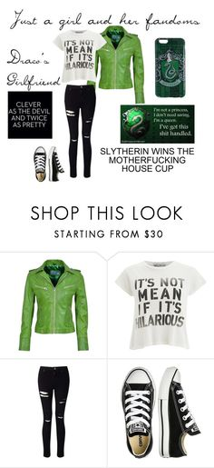 """""""Draco's Girlfriend"""" by barnhillmadison on Polyvore featuring Wildfox, Miss Selfridge and Converse"""