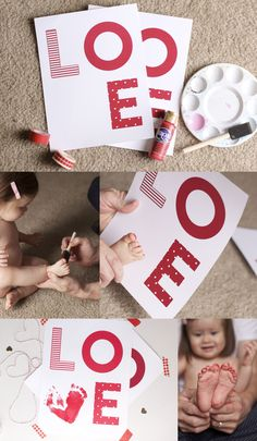BABY'S FIRST VALENTINE |PRINTABLE | Valentine's Day Printable | by brigette turner