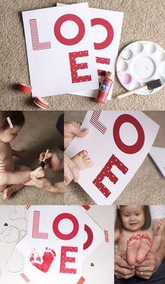 BABY'S FIRST VALENTINE  PRINTABLE   Valentine's Day Printable   by brigette turner