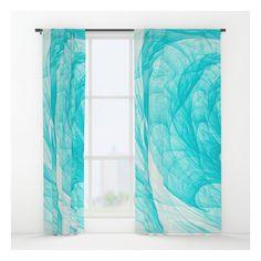 Aqua Marine Waves Window Curtains ($79) ❤ liked on Polyvore featuring home, home decor, window treatments, curtains, aqua curtains, aqua home accessories, aqua blue curtains, aqua home decor and blue green curtains