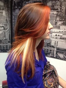 Color Block Hair On Pinterest Lavender Hair Highlights