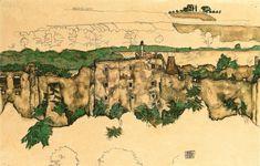 Egon Schiele (1890-1918) Landschaft (Ruine Weitenegg) signed and dated 'EGON SCHIELE 1916' (lower right)
