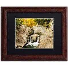 Trademark Fine Art Fall at the Falls Canvas Art by Michael Blanchette Photography Black Matte, Wood Frame, Size: 16 x 20, Assorted