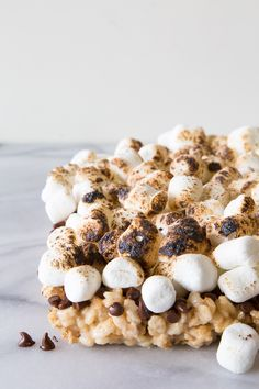 S'more Rice Krispie Treats - @What's Gaby Cooking
