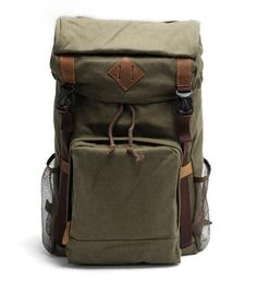 caea6714fa62 Canvas Backpack Rucksack School Backpack • Fabric Lining • Inside zipper  pocket • It can hold