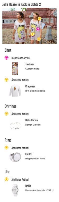Bei dem individuellen Best Friends Shirts von Zeynep (Gizem Emre) und Chantal (Jella Haase) handelt es sich um eine Einzelanfertigung von Designerin Regina Tiedeken auf Grundlage einer Idee des Designers Moschino von der gleichnamigen Modemarke. Die langen Sweatshirts wurden speziell für die Bilderbuch BBFs entworfen und stellen das Gesicht einer Comic-Blondine in Form eines geteilten Herzens dar.