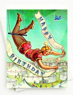 Gorgeous! Acrobatic Birthday Card by Cartolina, available at JackCards.com