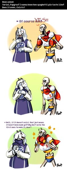 Undertale ask blog: spaghetti pie by bPAVLICA on DeviantArt