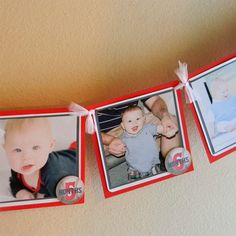1st birthday photo banner...Gonna make E's on giraffe print scrapbook paper and cardstock for stability