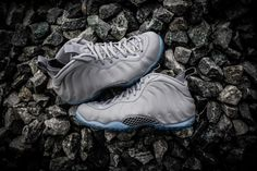 4cc0ac11812 NIKE AIR FOAMPOSITE ONE PREMIUM WOLF COOL GREY SUEDE 575420 007   200