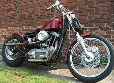 Photo of 1970 Harley XLCH Sportster Bobber motorcycle with 1000cc Ironhead engine.