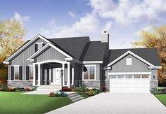 1199 sq ft house plan - open concept