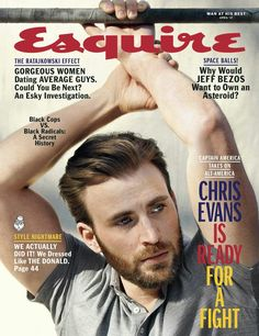 Chris Evans for Esquire USA by Mark Segal
