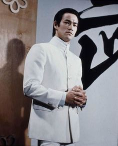 "Bruce Lee in a still from his movie ""Fist of Fury""..."