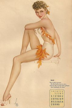 #pin up #calendar girl
