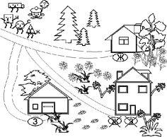 Перші правила та алгоритми: пригоди в країні Геометричних фігур. Подорож кольоровими стежинками