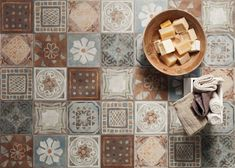 Let your imagination run wild with these arabesque designed porcelain tiles perfect for those seeking a Mediterranean theme or rustic charm for  space #kitcheninspo #bathroominspo #homeinspo #renoinspo #designinspo #decorinspo #decor #design #homedesign #interiordesign #architect #instahome #ancient #arabesque #mediterranean #tiles #love #tileaddiction #patterns #patternplanetme #patterntiles #walltiles #floortiles #tileart #floraltiles