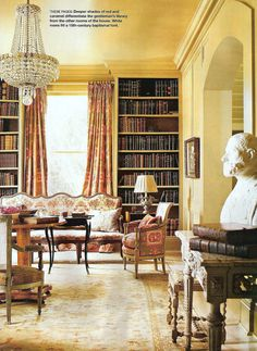 Gerrie Bremermann Gentlemans Library Style Southern Accents May 2007
