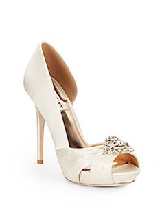 Badgley Mischka - Tina Satin d'Orsay Dress Sandals