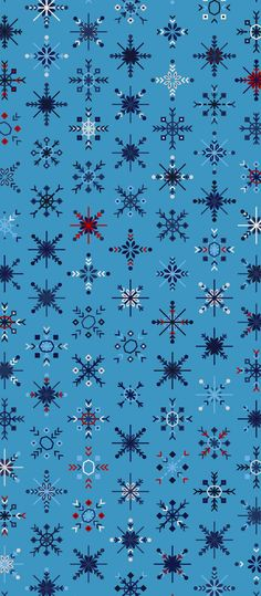 Russfussuk Snowflakes Pattern S4D #pattern #patterndesign #patternprint #snow #christmas #winter #snowflakes