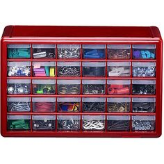 Akro-Mils 64 Drawer Small Parts Storage Cabinet-10164 at The Home ...