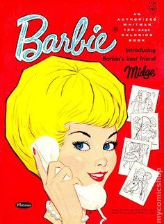 Barbie Coloring Book Introducing Midge (1962)