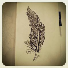 #feather #instaartwork #freehand #freeyourmind #pencil #tattooidee #artwork #art #fun #PaintTheWorld #instasketching #blackink #blackwhite #drawing #klc #patrickjakobsson www.villha.se
