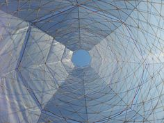 How the 60kg WarkaWater makes water out of air S. Aijaz | November 10, 2014 at 9:00 am ...   A view of the water collecting mesh from inside the structure (Credits: VittoriLab Architecture and Vision)