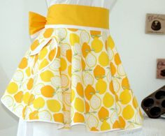 Lemon vintage apron  Still my favorite fabric