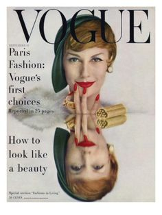 Vogue Cover - September 1957 by John Rawlings - Model Mary Jane Russell