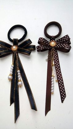 Fast And Easy Projects - How to Make Hair Clips? Girls Hair Accessories, Handmade Accessories, How To Make Hair, How To Make Bows, Headband Hairstyles, Diy Hairstyles, Manga Hair, Hair Ribbons, Barrettes