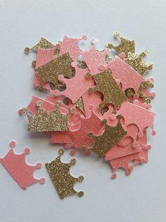 Principessa bambino doccia rosa e oro corona coriandoli