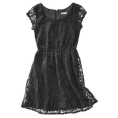 Xhilaration® Juniors Fit and Flare Lace Dress - Assorted Colors