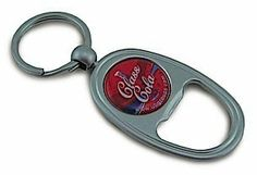 Custom Bottle Opener With Key Chain . $14.95. Satin Silver Bottle Opener with a Keychain ~ personalized 24mm center. These are a fabulous gift with a loved ones picture!