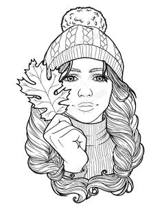 Beach Coloring Pages, Fox Coloring Page, Mermaid Coloring Pages, Fall Coloring Pages, Coloring Sheets, Coloring Books, People Coloring Pages, Mandala Coloring, Coloring Pages For Teenagers